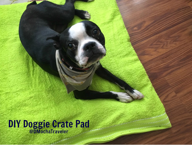 Easy DIY Doggie Crate Pad For Our Upcoming Road Trip