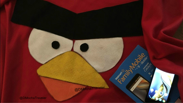 DIY Red Angry Bird Blanket & Family Movie Night Snacks!